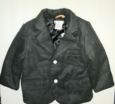 Joe Fresh Baby Dark Gray Cotton Wool Blend Jacket Boys Size 1 Yr (12 Months) NWT