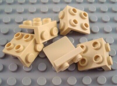 LEGO Lot of 5 Tan 1x2-2x2 Space Bracket Pieces