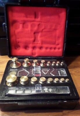 Troemner Apothecary Pharmacy Calibration Scale Weight Set Oz & Grams