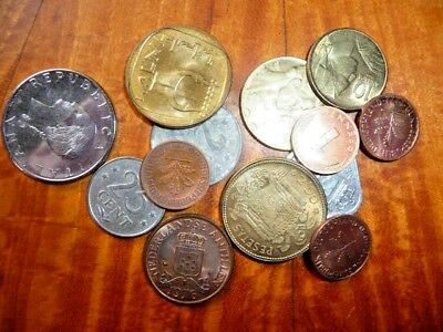 Lot of 6 Packets of Littleton Coins (12 Coins from 6 Countries 1953-83)