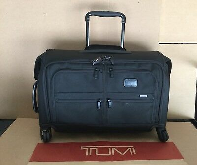 18876000e8 TUMI ALPHA 2 Carry-On 4 Wheeled Garment Bag Luggage 22038D2 Black ...