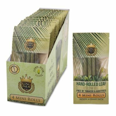 King Palm Mini Rolls Leaf Organic - 1 PACK - Natural 4 Per Pack Filter Pre FAST