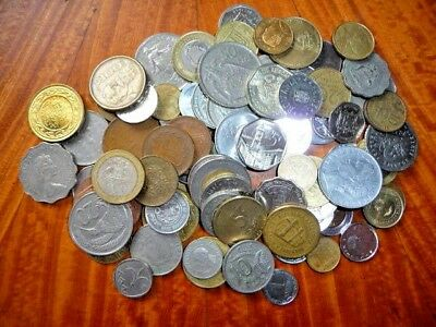 Mixed Lot of International Coins (>1 lb.) Current/Obsolete/Circulated #45