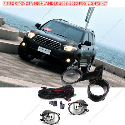 Bumper Lamp Fog Light&Switch&Wiring Kit Assy k For Toyota Highlander 08 09 10