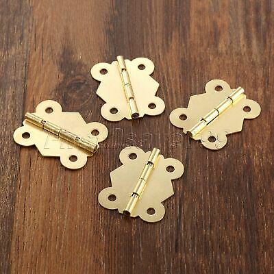 Brass Color Butterfly Hinges Jewelry Box Decorative Dollhouse Cabinet Door Hinge