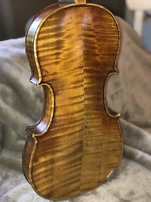 For Repair Antique Violin label Says Wm. M. Simpson 11/1924 Case and 2 Bows