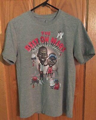 f4452b256e6292 Nike Air Jordan 3 Michael Jordan Spike Lee The Best On Mars T Shirt Small  Gray