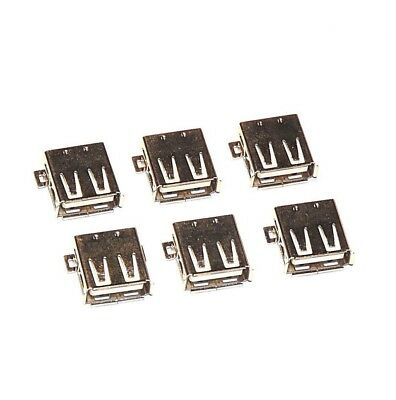 x6 USB Type A Female Ports  -  Surface Mount - SMT