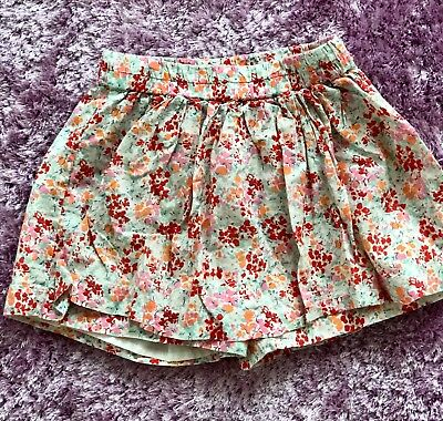 crew cuts girls flowery skorts size 6