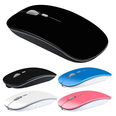 USB Mouse 2.4GHz Optical Mice Wireless Rechargeable Slim Silent Button Y-Kit