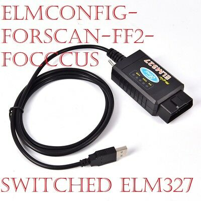 Modified ELM327 USB Ford Elmconfig Focccus Forscan Focus Smax Mondeo Kuga CMax