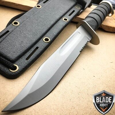 """12"""" Marine Hunting Tactical Military Combat Survival Knife Fixed Blade -S"""