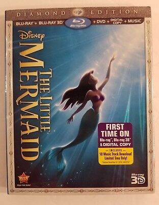 The Little Mermaid (Blu-ray/DVD, 2013, 3-Disc Set, Diamond Edition Includes Dig…