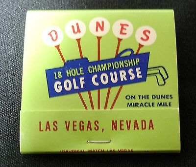 The Dunes Hotel & Country Club Book of matches, Las Vegas Matchbook