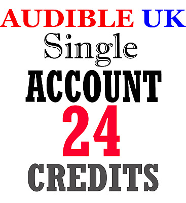 NEW Audible ACCOUNT with 24 credits prefilled for UK region
