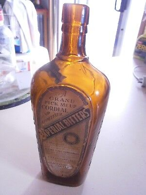 Cawsey''s Cordial Bitters,,has label on front,,known as a Australian Bitters