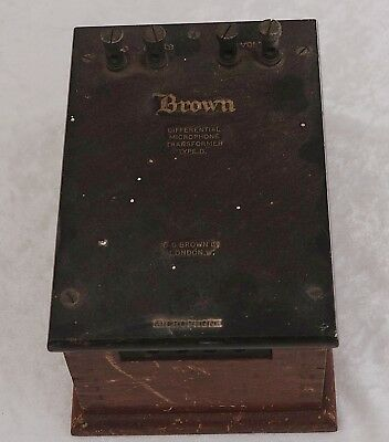 vintage SG Brown Differential Microphone Transformer 1920's