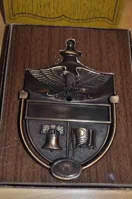 Vintage Bicentennial Brass Door Knocker Eagle Flag Liberty Bell
