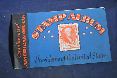 1936 American Oil Co., Presidents Stamp Album AMOCO