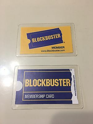 Blockbuster Video Membership Cards, Blank, One Blue, One Gold