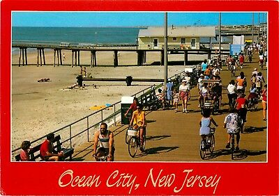 OCEAN CITY NEW Jersey NJ Boardwalk Music Pier OCNJ Postcard