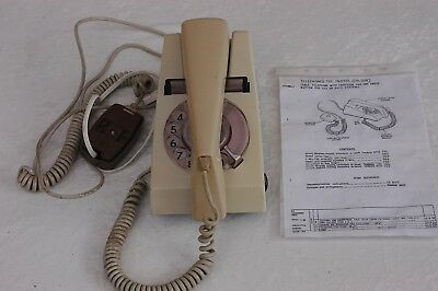 Vintage Trimphone  GPO 722 series circa 60's 70's with wiring diagram