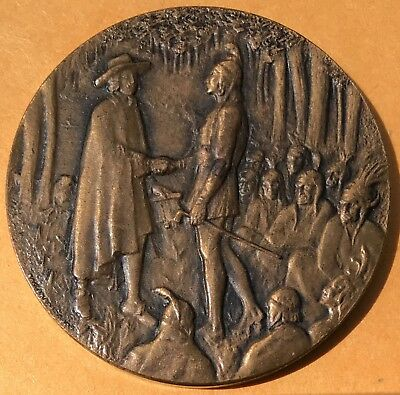 1682-1932 William Penn 250th Anniversary Medal, Philadelphia PA, Bronze 38mm