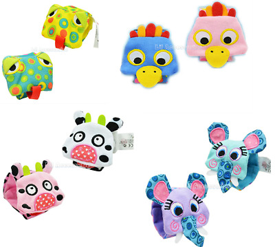 Sozzy Animal Wrist Rattles 1 x Pair