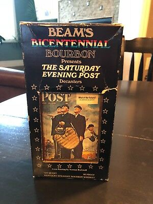Beam's Bicentennial Bourban - The Saturday Evening Post Unopened in Original Box