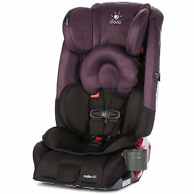 Diono Radian RXT All-in-One Car Seat, Black Plum