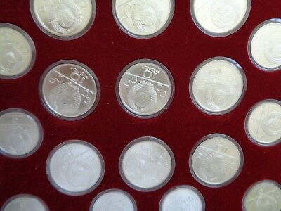 1980 Moscow Olympic 28 Silver Coin Set