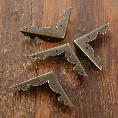 Decorative Bronze Scrapbooking Wood Jewelry Box Corner Protector Guard Antique