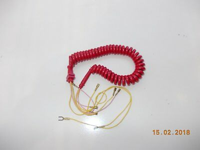 red handset cord for acf telephone 801/802 series
