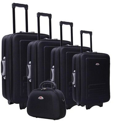 Black Luggage Set - 5 Piece Black