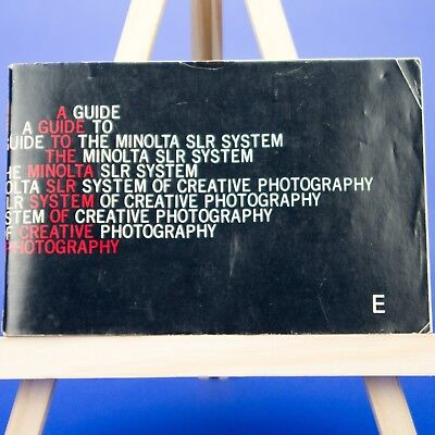 Genuine Minolta Booklet: Guide to the Minolta SLR System of Creative Photography