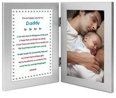 Daddy Gift From Newborn Poem Picture Frame Photo Fathers Day Gift Sweet Present
