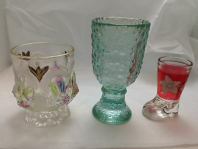 3 Vintage Glass Cups