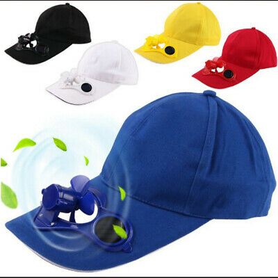 2019 Summer Outdoor Hat Cap with Solar Sun Power Cool Cooling Fan &Hip-Hop Hat