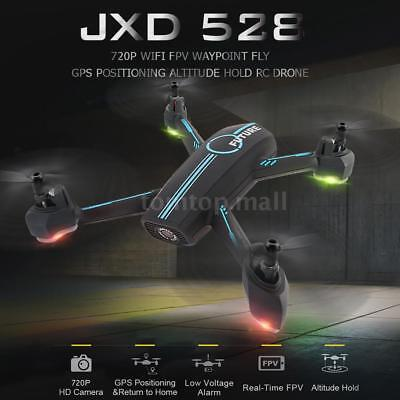 JXD 528 RC Quadcopter 2.4G HD 720P Camera WIFI FPV GPS Drone Kids Toys W7F4