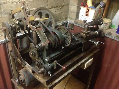 Early Alfred Stewart Advance Lathe (Possibly by the original owner Bert Kirby)
