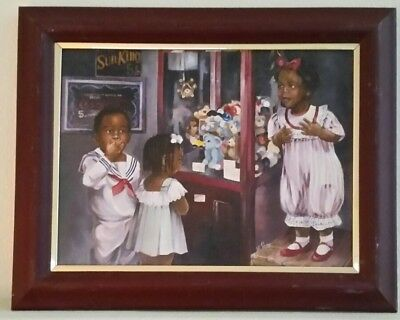 """Oil On Canvas, Children Playing, Signed By G. Rose 20"""" X 16"""""""
