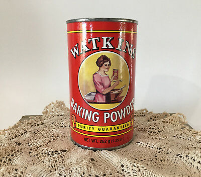 Watkins Baking Powder Canister 1990s Advertising Kitchen Collectible