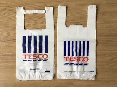 43x small plastic TESCO BAG biodegradable recyclable reuse shopping food carrier
