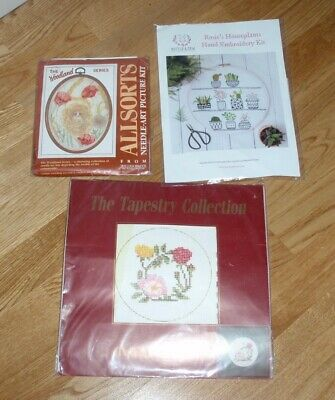 "WILLIAM BRIGGS WOODLAND SERIES HN30 CORN POPPY EMBROIDERY KIT - 7"" x 5"""