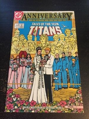 Tales Of Teen Titans#50 Incredible Condition 9.2(1985) Wedding, George Perez Art