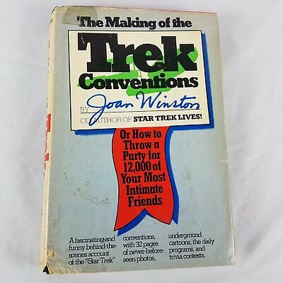1977 Making of the Star Trek Conventions Hardcover Book Dust Jacket  Author Note