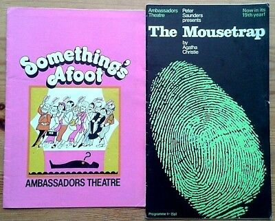 Selection of individual Ambassadors Theatre programmes 1970s, West End programme