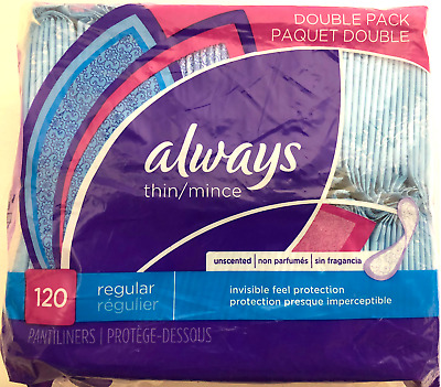 Always Thin Regular Pantiliners , 120 CT by Always