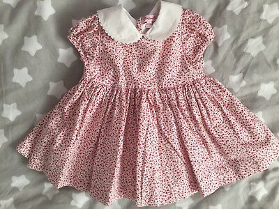 Trotters Confiture Dress 6-12 Months with cherry design
