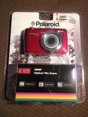 New Sealed Polaroid iE X29 Digital Camera - Red 18MP OPTICAL 10X ZOOM